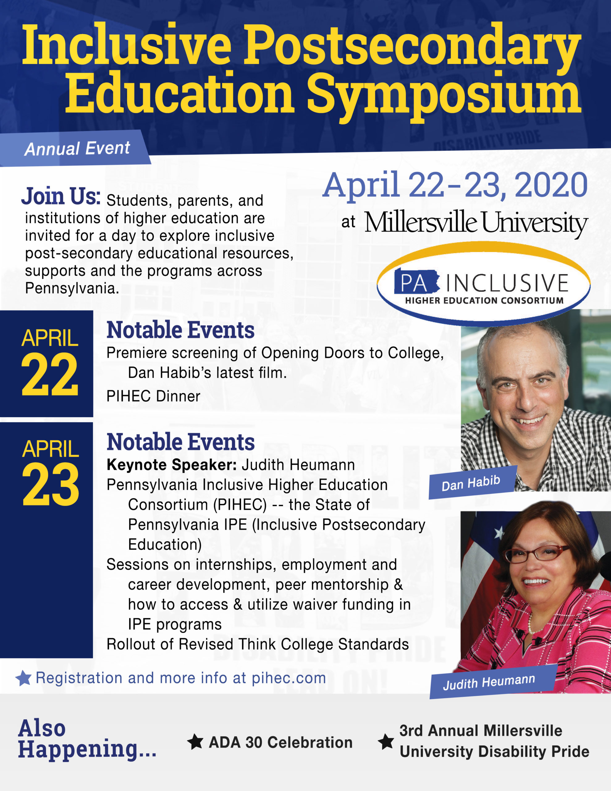 Inclusive Postsecondary Education Symposium, ADA 30 Celebration, & MU Disability Pride!